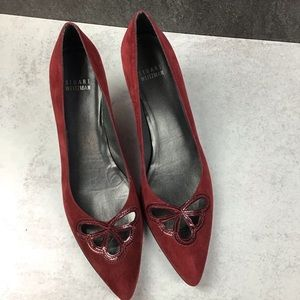 Stuart Weitzman Red Scarlet Portal Cut-out Pumps